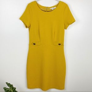 Boden Cordelia Dress Mustard Yellow Size 12